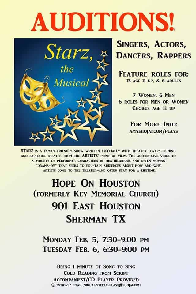 Starz musical auditions